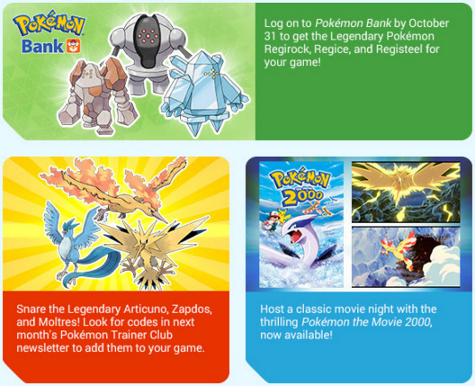 Articuno, Zapdos, and Moltres Coming in Next Months Pokemon