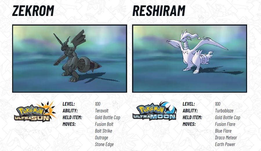 2018 Legendary Pokemon Distribution Zekrom Reshiram