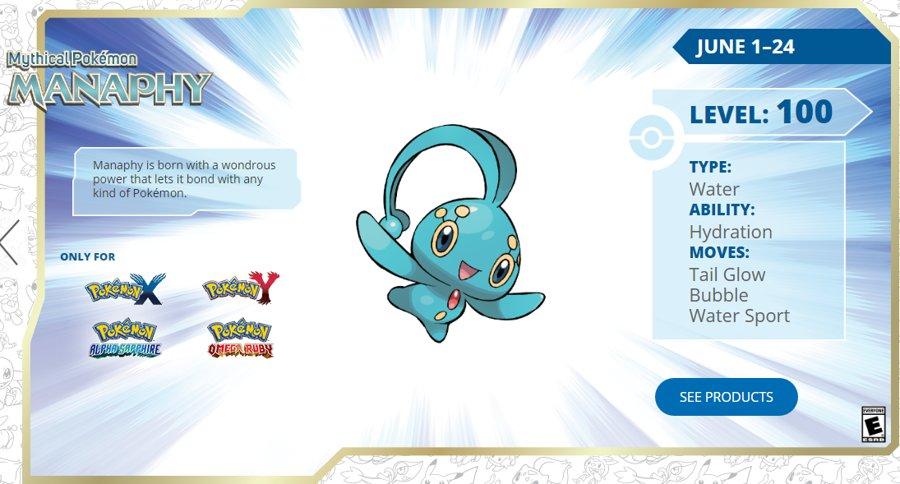 Get a Level 100 Manaphy via Nintendo Network Until June 24