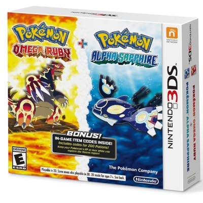 Pokemon Omega Ruby and Alpha Sapphire Dual Pack