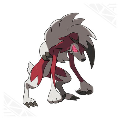 Pokemon Sun and Moon Lycanroc Middnight