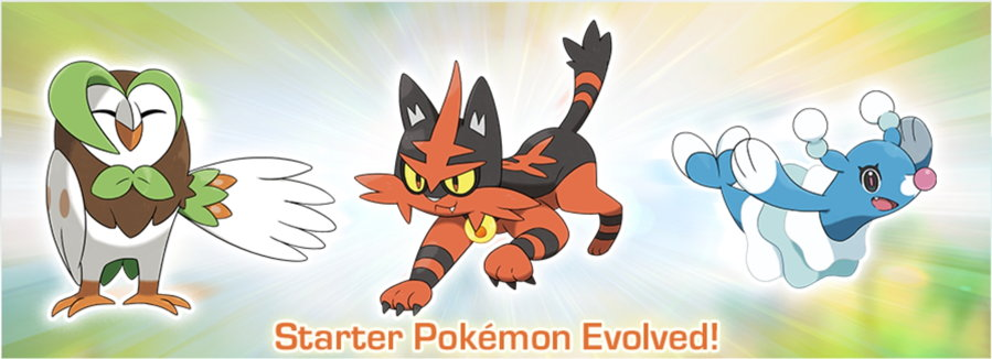 Sun Moon Starter Evolutions
