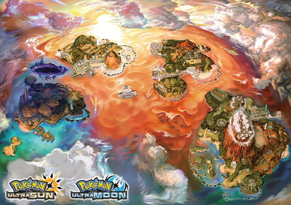 Ultra Sun and Moon Alola Map