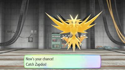 Let's Go Pikachu Eevee Zapdos