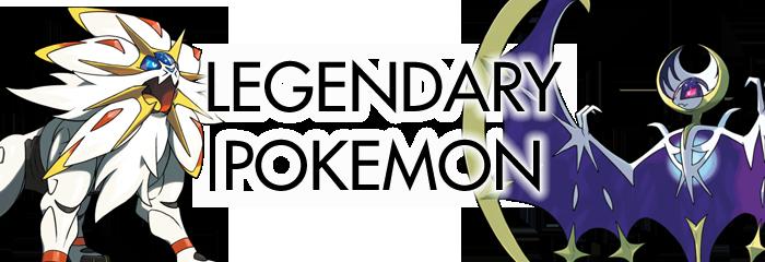 Pokemon Sun and Moon Legendary Pokemon