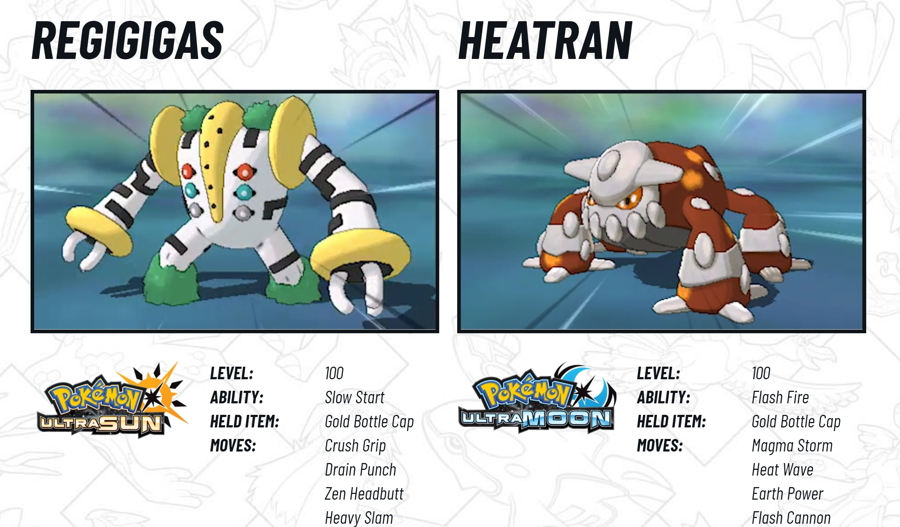 2018 Legendary Pokemon Distribution Heatran Regigigas
