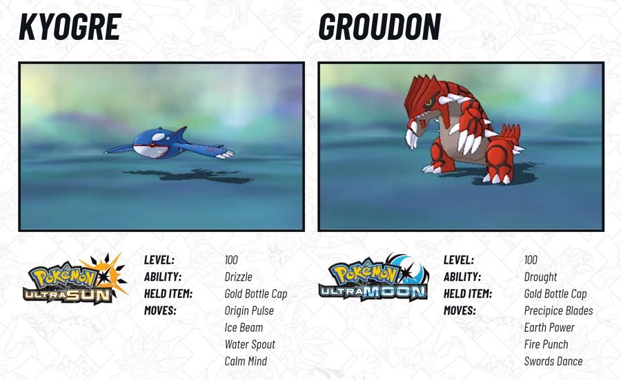 2018 Legendary Pokemon Distribution Kyogre Groudon