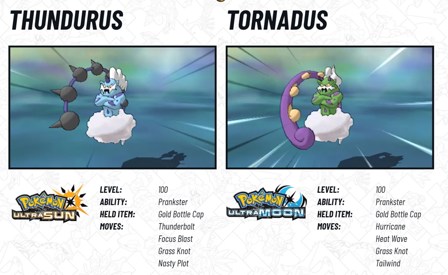 2018 Legendary Pokemon Distribution Tornadus Thundurus