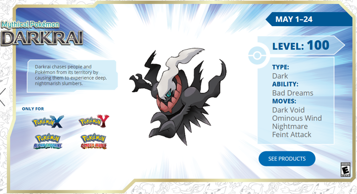 Darkrai Promotion 2016