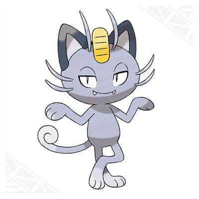 Pokemon Sun and Moon Alolan Meowth