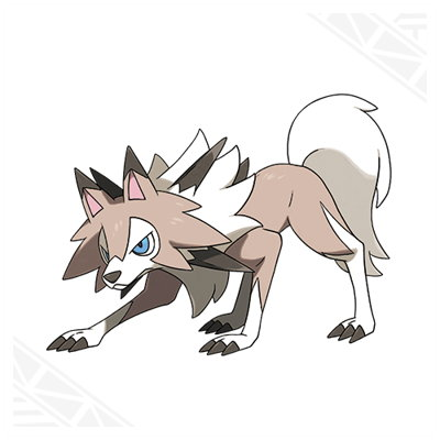 Pokemon Sun and Moon Lycanroc Midday