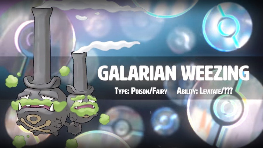 Pokemon Sword Shield Galarian Weezing