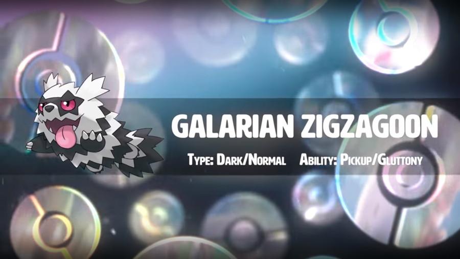 Pokemon Sword Shield Galarian Zigzagoon