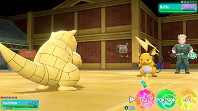 Let's Go Pikachu Eevee Lt. Surge