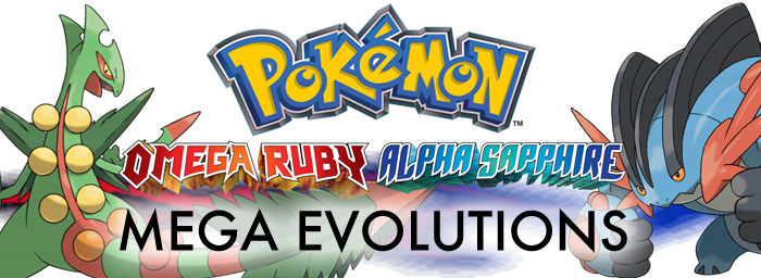 Pokemon Omega Ruby And Alpha Sapphire Mega Evolutions Oras Mega Stones