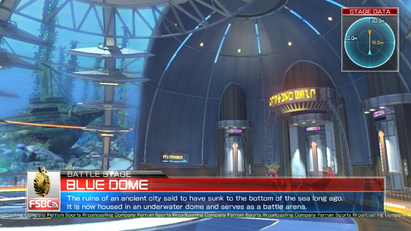 Pokken Tournament Blue Dome