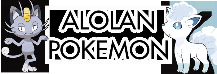Sun Moon Alolan Pokemon